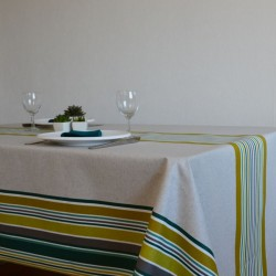 Nappe en toile de savoie enduite au mètre esprit basque