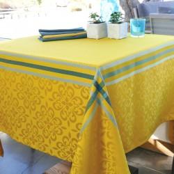 Nappe en jacquard polyester enduit