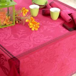 Nappe jacquard fil teint en coton peigné traité Teflon Vasco