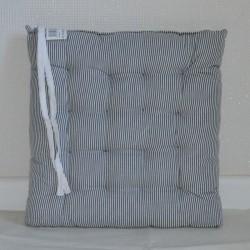 Galette de chaise matelassée en 40 x 40 en coton réversible