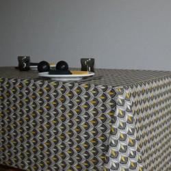 Nappe en tissu enduit ou toile enduit au motif moderne et tendance