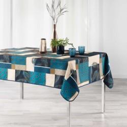 Nappe imprimée en polyester anti-taches avec un motif moderne et un coloris très actuel