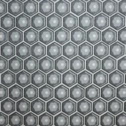 Nappe en toile ou tissu enduit au motif alvéolaire et au coloris gris modernes