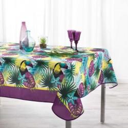 Nappe imprimée en polyester facile d'entretien motif tropical Mérédith
