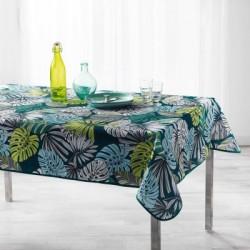 Nappe imprimée en polyester traitée anti-taches avec un motif jungle très tendance