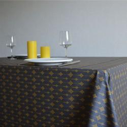 Toile ou tissu enduit pour nappage, un esprit moderne sur votre table avec un motif tendance sur fond marine