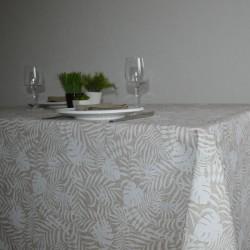 Nappe en toile enduite avec des feuilles tropicales pour un motif  tendance