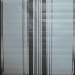 Toile cirée standard en 160 cm avec des rayures marron pour un esprit basque sur votre table