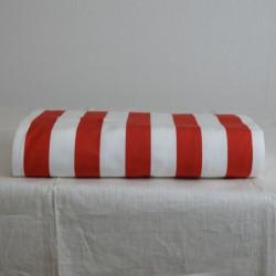 Toile à transat en 43 cm de large avec des rayures 5/5 rouges et blanches, pour un aspect chic