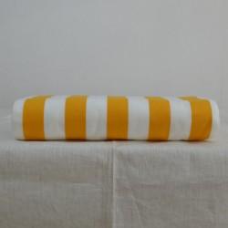 Toile à transat en 43 cm avec des rayures jaunes et blanches