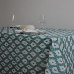 Nappe en toile enduite grande largeur 180 cm avec un coloris et un motif tendance