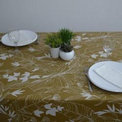 Toile de savoie enduite en 175 cm avec un décor de feuillage très originaux