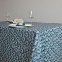 Nappe en toile ou tissu enduit de grande largeur, en 175 cm, avec un motif moderne et un coloris tendance