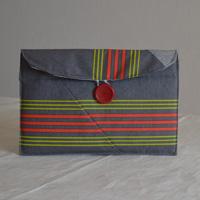 Pochette pour tablette réalisée par Marie-Pierre en tissu enduit