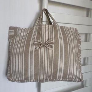 Cabat en tissu enduit ou toile enduite au mètre réalisé et confié par Marie-Pierre
