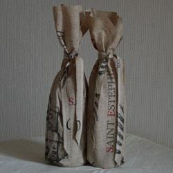 Cache bouteille en tissu enduit
