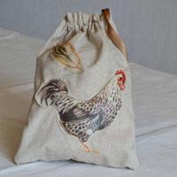 Pochette réalisée en tissu enduit ou toile enduite pour le goûter de Rafa