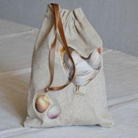 pochette en tissu enduit ou coton pour le goûter