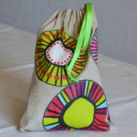 Pochette réalisée en tissu enduit ou toile enduite pour Rafa