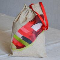 Pochette en tissu enduit ou toile pour les chaussons ... de Rafa