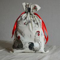 Pochette réalisée en tissu enduit Sagamore