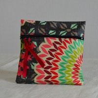 Pochette de sac réalisée en tissu enduit ou toile enduite Gaby