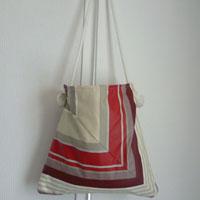 Sac en tissu enduit ou toile enduite au mètre réalisé et confié par Marie-Pierre