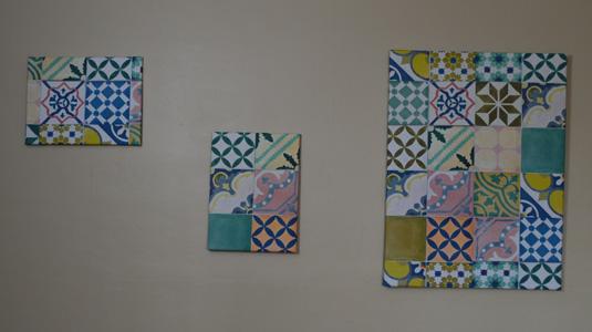 Tableaux réalisés en tissu enduit impression digitale Mauranne